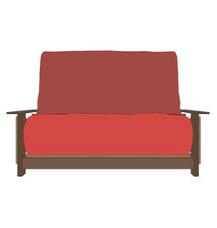 sofa red interior room furniture modern design vector image vector image