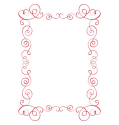square flourish calligraphy vintage frame vector image