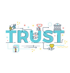trust word lettering vector image vector image