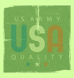 USA retro poster usa army quality shabby grunge vector image vector image