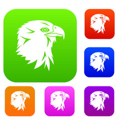 eagle set collection vector image