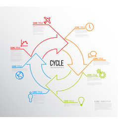 Infographic cycle template made from lines and vector
