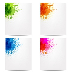 Set banners with color blob vector