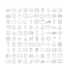 Thin line icons v2 vector