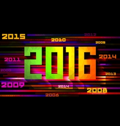 Colorful design happy new year 2016 vector