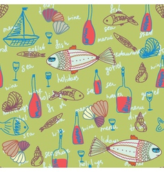 Seafood wallpaper vector