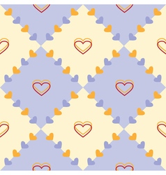Seamless symmetrical pattern with hearts vector