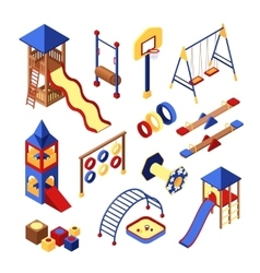 Playground icons set vector