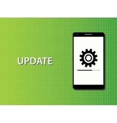 Update apps smartphone in progress concept vector