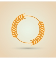 Wheat icon grain design agriculture concept vector