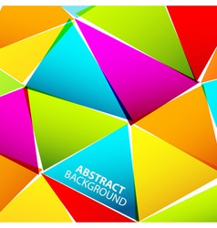 Abstract colorful paper triangle background vector image vector image