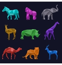 Animals low poly vector image
