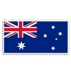 Australian flag stamp vector