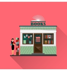 bookstore mall Books shop building vector image