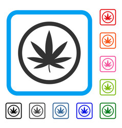Cannabis framed icon vector