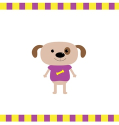 Cartoon dog boy card vector