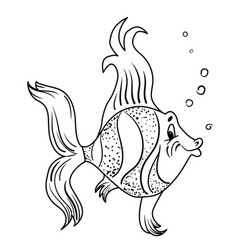 Cartoon image of funny fish vector