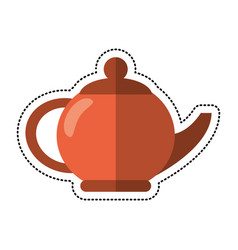 Cartoon teapot beverage ceramic image vector