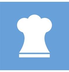 Chef white icon vector image