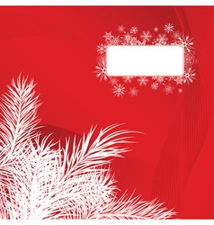 Christmas card with pine branches vector image