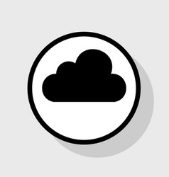 Cloud sign flat black icon vector