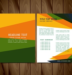 Creative colorful brochure flyer design vector
