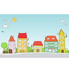 cute street vector image