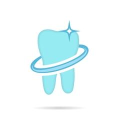 Dental logo dent icon vector image
