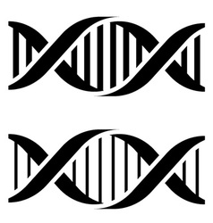 Dna simple black symbols vector