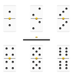 dominoes vector image