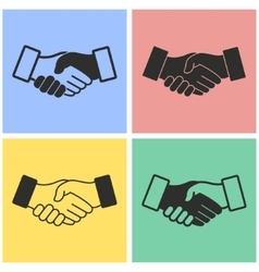 Handshake icon set vector image