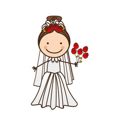 happy woman married icon vector image