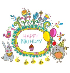 hedge birthday vector image vector image