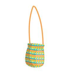 Hippie bag fashion vector