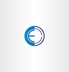 Letter e target point logo vector
