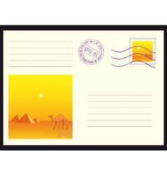 Mail envelope on black vector image vector image