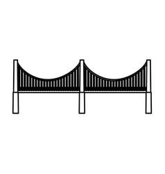 New york bridge isolated icon vector