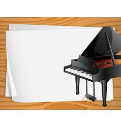 Piano Banner vector image vector image