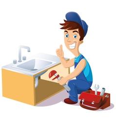 plumber vector image