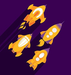 Rocket ship Flat icon vector image vector image