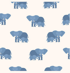 Seamless pattern with mother elephant holding its vector