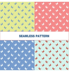 seamless pattern with swallow vector image vector image