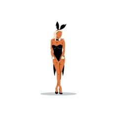 Sexy bunny girl vector image