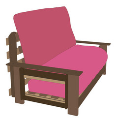 sofa red interior room furniture modern design vector image