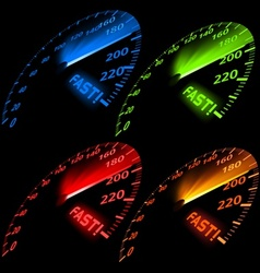 Speedometer Set vector image