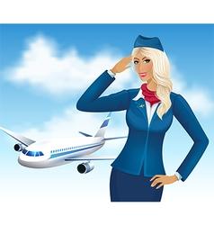 Stewardess vector image vector image