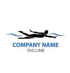 Swimmer Logo vector image