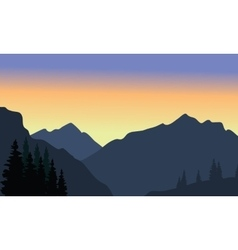 View of big mountain silhouette vector