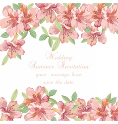 Vintage spring summer delicate flowers card vector