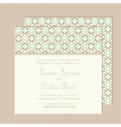 Vintage wedding invitation card vector